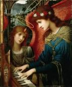 Saint Cecilia by John Melhuish Strudwick [British Pre-Raphaelite Painter, 1849-1935]