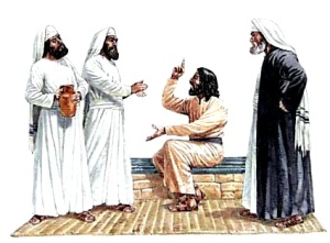 Jesus-arguing-with-the-Pharisees-300x221