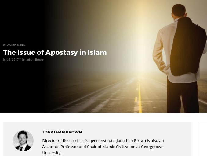 JB on apostasy